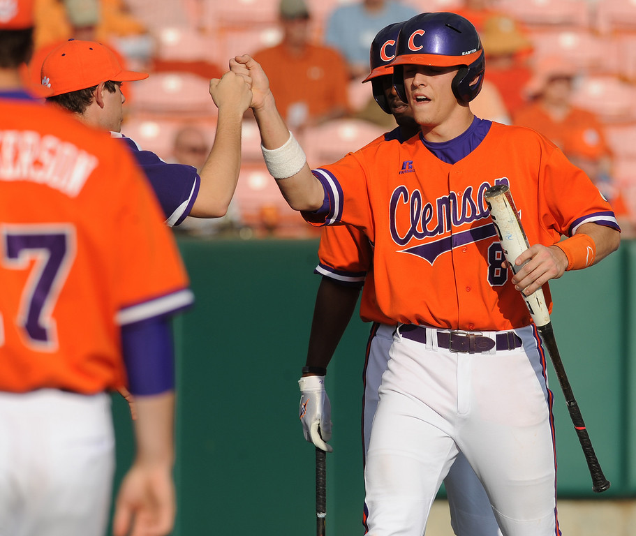 Clemson hosted Eastern Michigan during the Tigers season opener Friday, February 18, 2011 at Clemson's Doug Kingsmore Stadium. BART BOATWRIGHT/Staff