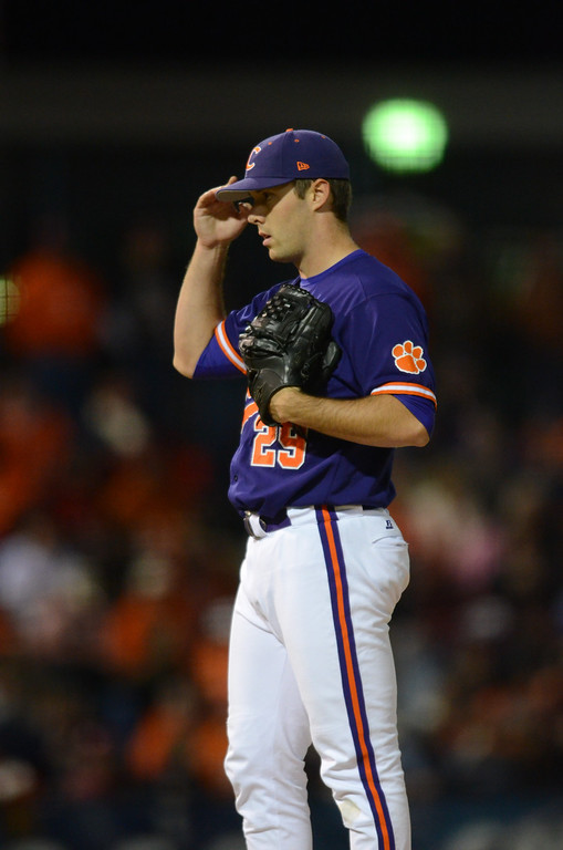 Clemson plays game three in a series against South Carolina at Fluor Field Tuesday, March 8, 2011. RICHARD SHIRO/Contributor