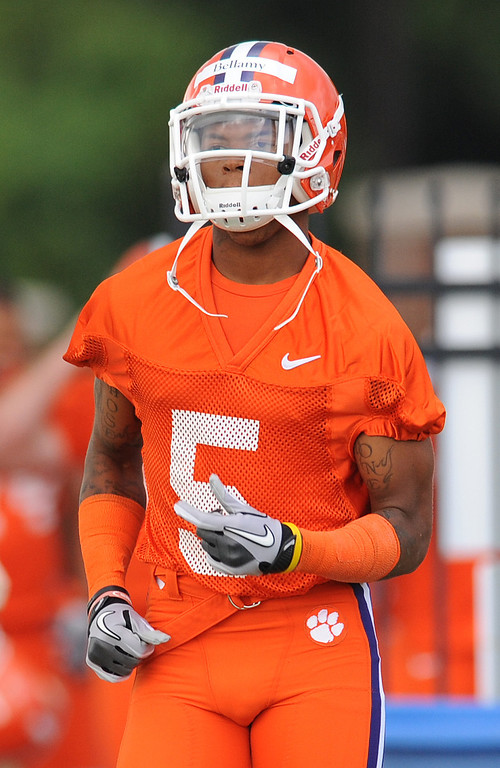 Clemson running back Mike Bellamy (5) during the teams first practice of the season Friday, August 5, 2011. BART BOATWRIGHT/Staff